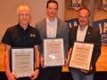Hausbrauerei und Brauerei des Jahres, von links Kremstal-Bräu-Ottakringer Brauerei- Michaeli-Bräu
